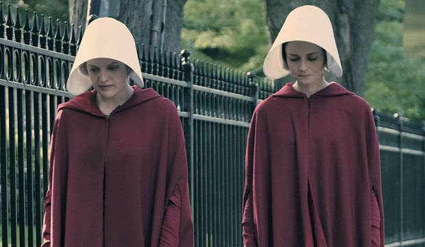 Handmaids are responsible for bearing children for the wives of commanders who cannot have kids of their own.