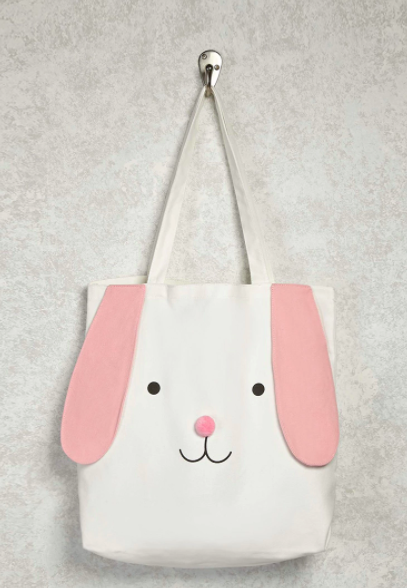 This cute-ass bunny tote bag that actually has floppy ears for authenticity.