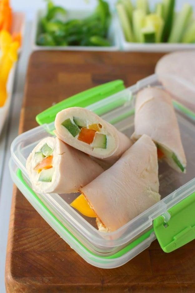 Turkey and Veggie Snack Wraps