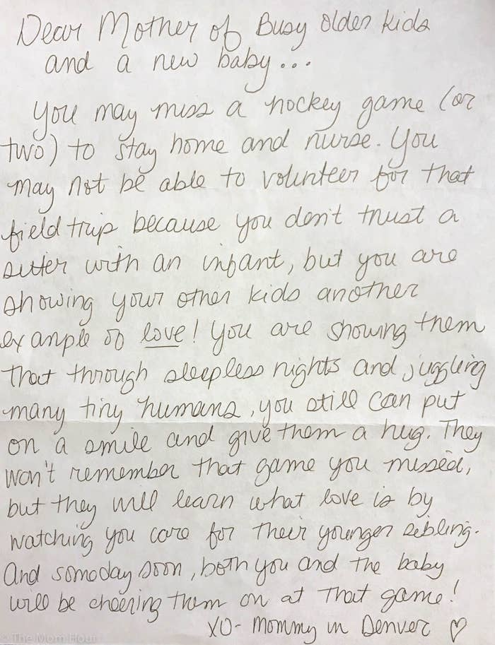 A Letter To Mom.Veteran Moms Wrote Encouraging Letters To New Moms And It