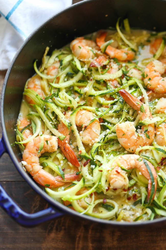 This light and zesty take on classic shrimp scampi comes together in half an hour. Get the recipe.