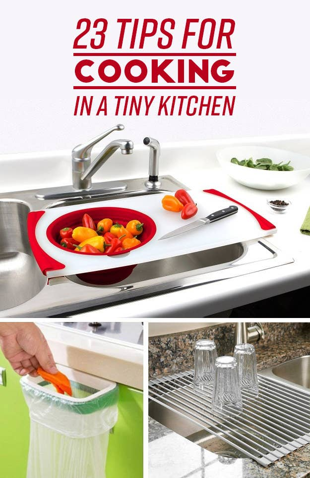 23 Clever Ways To Make It Easier To Cook In A Teeny Tiny Kitchen