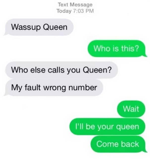 Wrong number texts photos