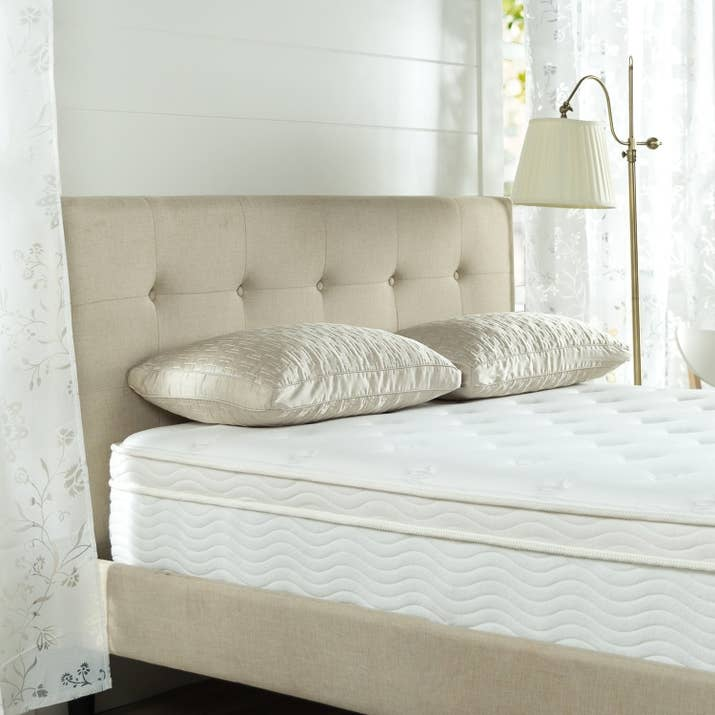 "Promising Review: ""I cannot feel any springs while laying in it and my body leaves no indentations. I am extremely sensitive to chemical odors and this mattress has none. Zero. This is a quality mattress, great for everynight use by a normal-sized adult. I spent $1800 on sale for an inner-spring mattress on my queen-sized bed, and this mattress is every bit as good as that one. UPDATE: 14 months later, I just bought another of these mattresses. The one I bought last year remains in perfect form and is extremely comfortable."" —DebPrice: $109+ Sizes: twin, twin XL, full, short queen, queen, and kingStyles: 8-inch, 10-inch, 12-inch, and 13-inchTry it with this box spring for $69.99+ (available in twin, twin XL, full, queen, king, and California king) and tufted platform frame for $169.99+ (available in twin, full, queen, and king)."