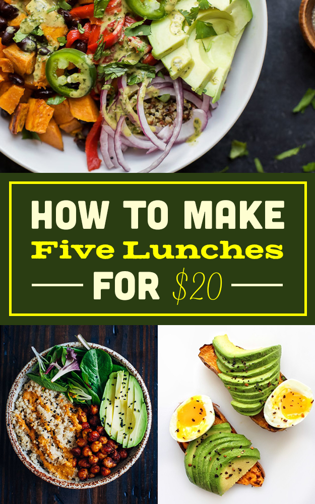 Here's How To Grocery Shop Once And Make Lunch All Week For $20