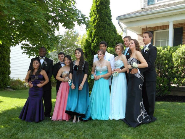 Boy Wearing Prom Dress