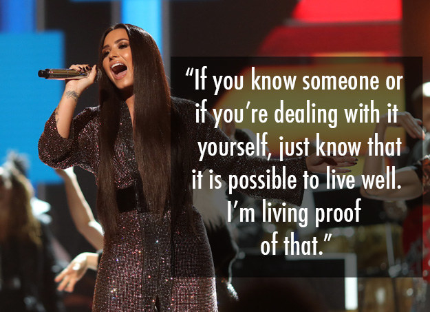 Demi Lovato has been vocal about being bipolar as well as her struggles with addiction, an eating disorder, and self-harm.
