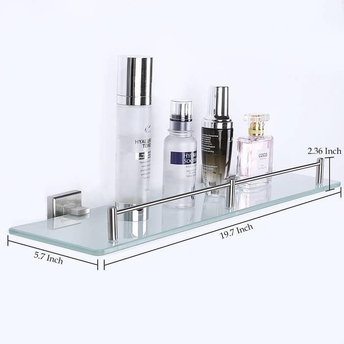 Get the glass bathroom shelf here.