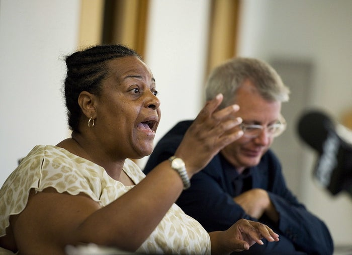 Margaret Parsons of the African Canadian Legal Clinic speaks in 2012.