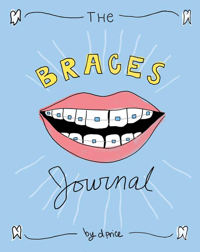 """Promising Review: """"It can be so difficult for any kid to go through adolescence with braces. And this journal with its fun, colorful designs and creative layout makes the perfect companion for anyone who struggles with braces. It's also as helpful as it is fun, with it including forbidden foods lists and other resources for kids."""" —Jill Tamari Get it from Amazon for $1.89."""