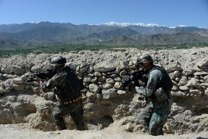 Afghan security forces in Nangarhar province in April.