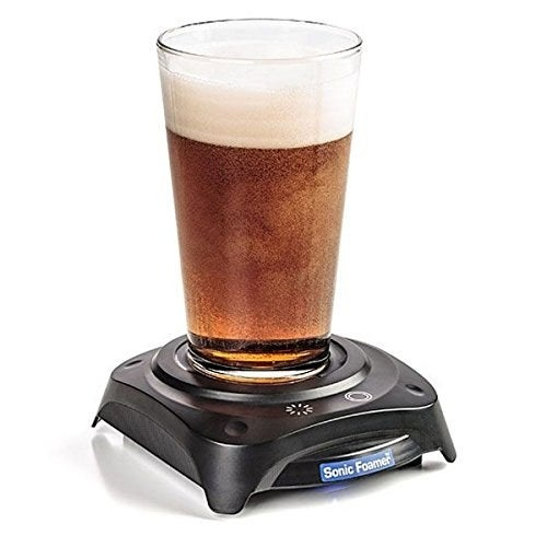 """Slight vibrations work to create a foam head that'll make every sip taste as delicious and aromatic as the first.Promising Review: """"Got it for my dad for his birthday. He is a fan of beer so I said, 'what the heck, this thing would entice him.' Turns out he loves it and it actually works. It's a fun little gadget. He uses it twice for every beer to deliver the foam and flavor he needs."""" — Brett NelsonGet it on Amazon for $19.95.—Sarah Wainschel"""