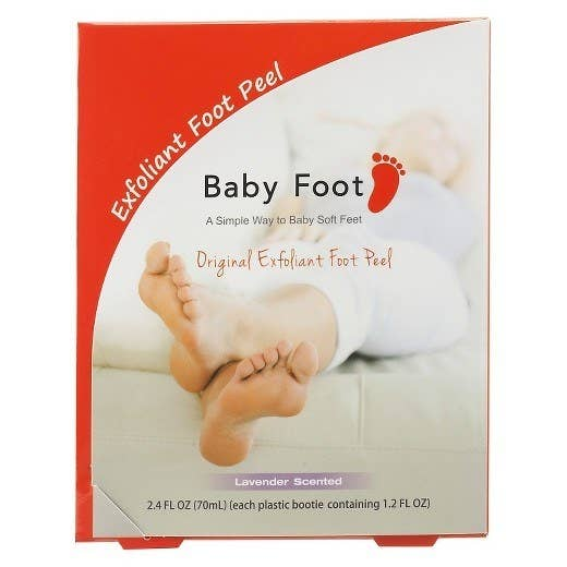 """Promising Review: """"I will never let another nail tech scrape my feet again, only Baby Foot Peel from now on. It took a few day to get the real peeling going, but once it started it was like a brand new pair of feet under all of that skin. I read a lot of reviews that said soak your feet to get the peeling started, and they're right. I soaked them in the tub up while showering and it helped."""" —Eesh_Wats1219Price: $25 (Cruelty-free.)"""