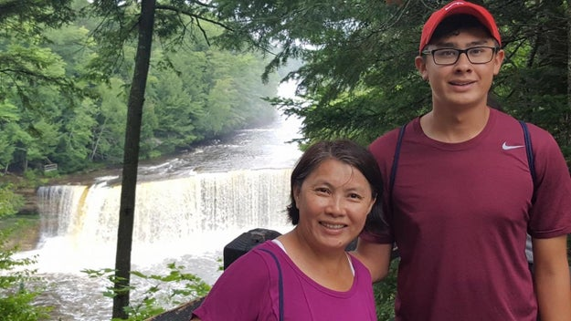 This is Ryan Niemchick, 21, and his mom Li Chun. They live in Michigan. A few years ago, Ryan left home for college.