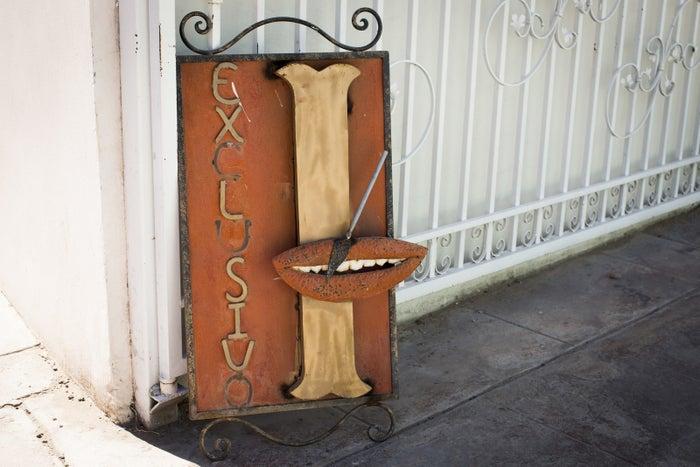 A dental clinic sign on May 18, 2017, in Los Algodones, Baja California, Mexico.