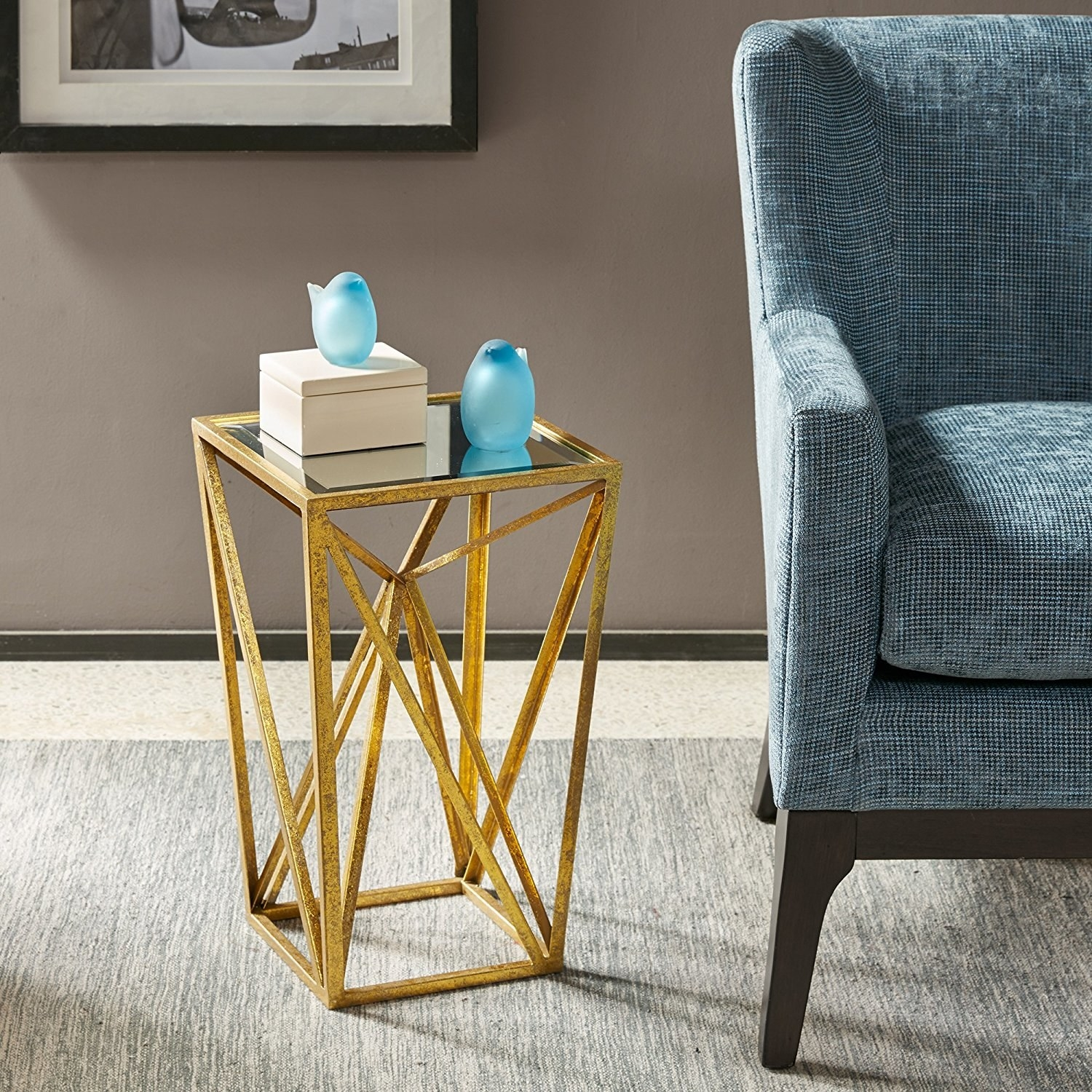8. A Mirror Topped Accent Table So Glam, People Will Be Shocked Itu0027s From  Amazon.