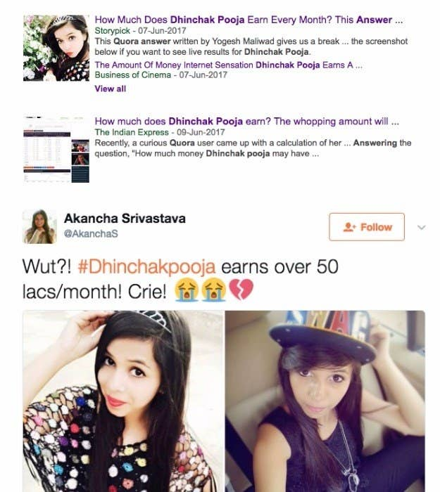 No, Dhinchak Pooja Does Not Earn ₹50 Lakhs Per Month