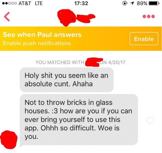 21 Fucked-Up Tinder Messages That'll Make You Cringe And Cry