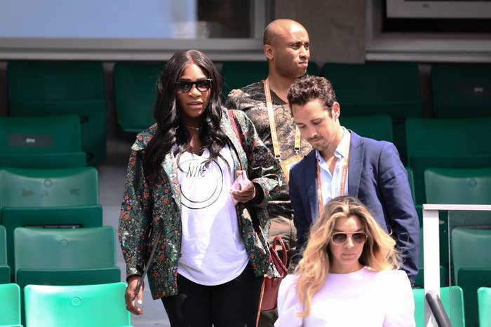 Serena Williams is out on maternity leave for the remainder of this season, but at least she came to support her sister, Venus, in this year's French Open.