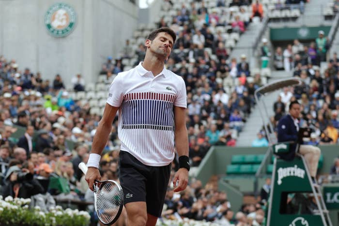 Novak Djokovic has certainly been in a slump for about the last 12 months. With his unsuccessful defense in Paris, he is without a Major Title in his possession for the first time in 3 years.