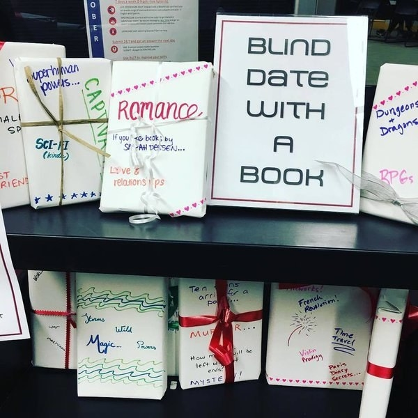 "Going on a ""blind date"" with a book."