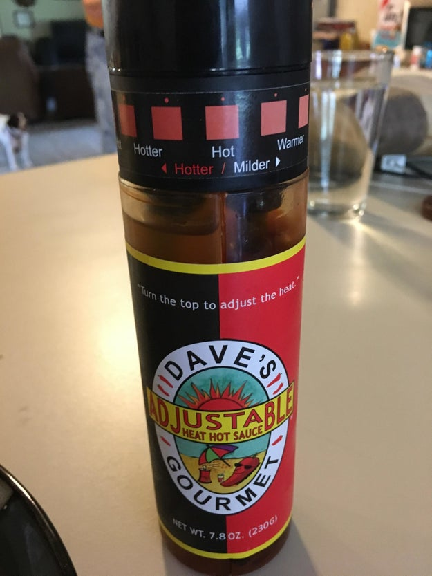 This hot sauce bottle that allows you to adjust the spice level.