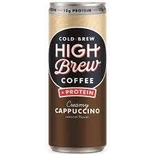 High Brew Cold Brew launched Creamy Cappuccino. The drink as two times the amount of natural caffeine in a regular cup of coffee, 12 grams of protein, and 3 grams of fiber in each portable can. With around 25 percent of the recommended daily amount of protein, the delicious drink makes it easy for those on the go to get their caffeine and protein too.