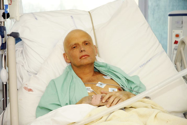 Alexander Litvinenko on his deathbed