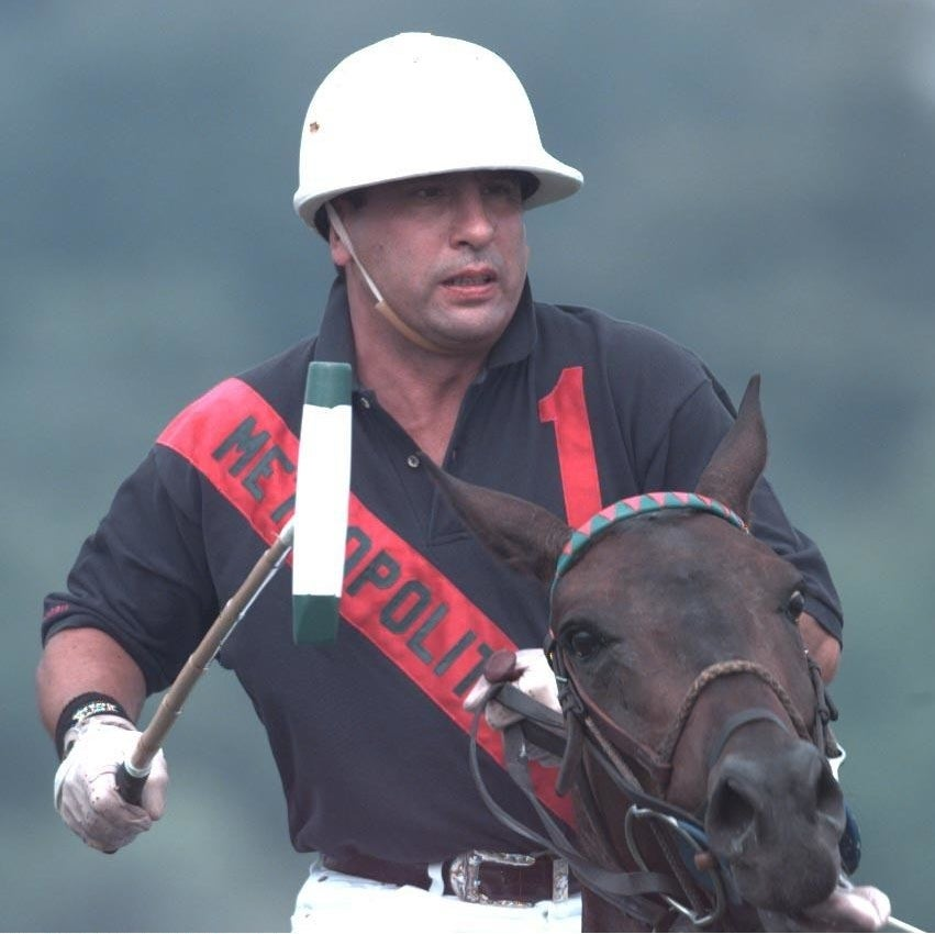Paul Castle played polo with Prince Charles.