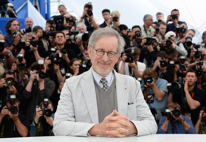 According to a study, Spielberg gets shouted out in acceptance speeches more often than the all-powerful creator of the universe.