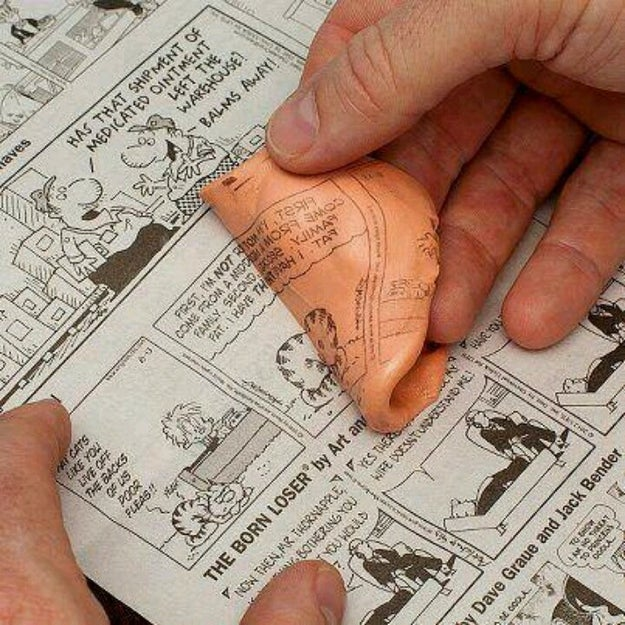 Whenever you got a PERFECT newspaper comic imprint on your Silly Putty.