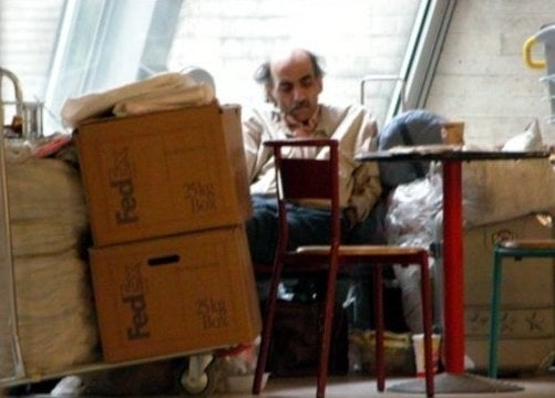 His name is Mehran Karimi Nasseri, and he is an Iranian refugee who lived in Terminal 1 at Charles de Gaulle Airport in Paris from Aug. 8, 1988, until July 2006. After fleeing Iran, he sought refuge in a number of different countries and lost his passport en route in England, stranding him in the French airport.