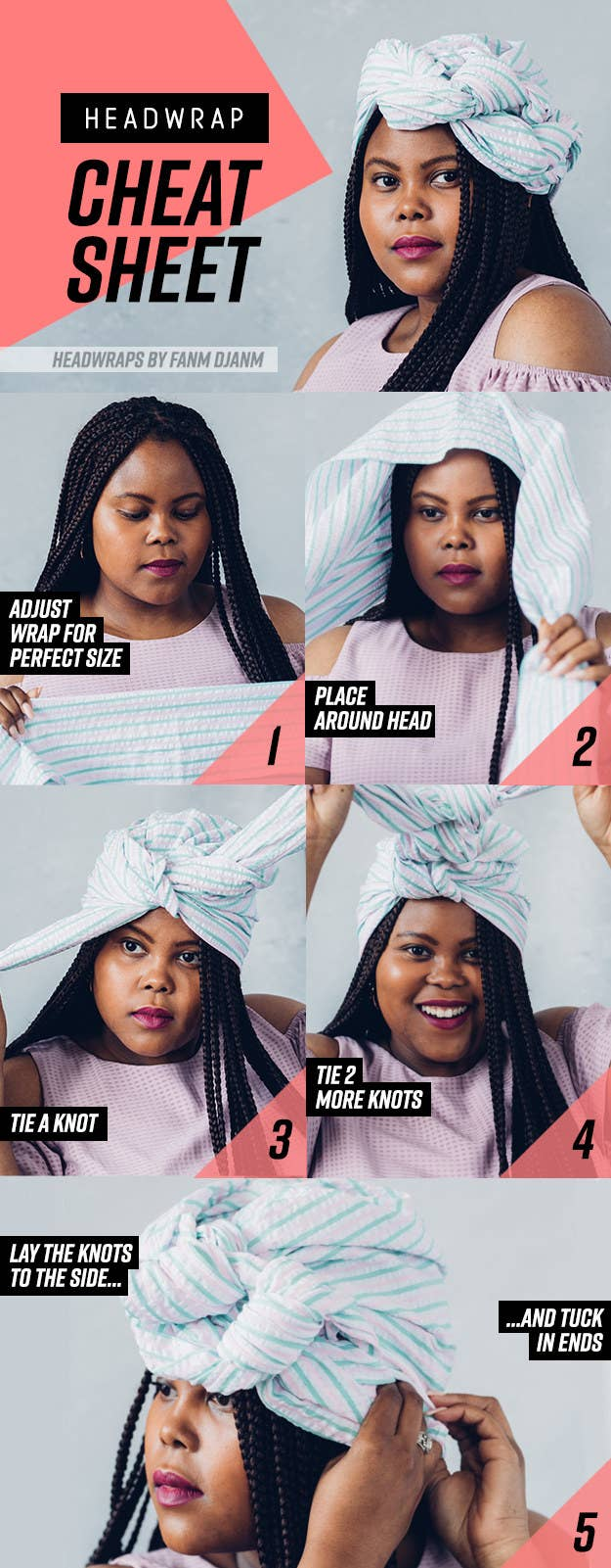 8 Head Wrap Cheat Sheets If You Don T Know How To Tie Them