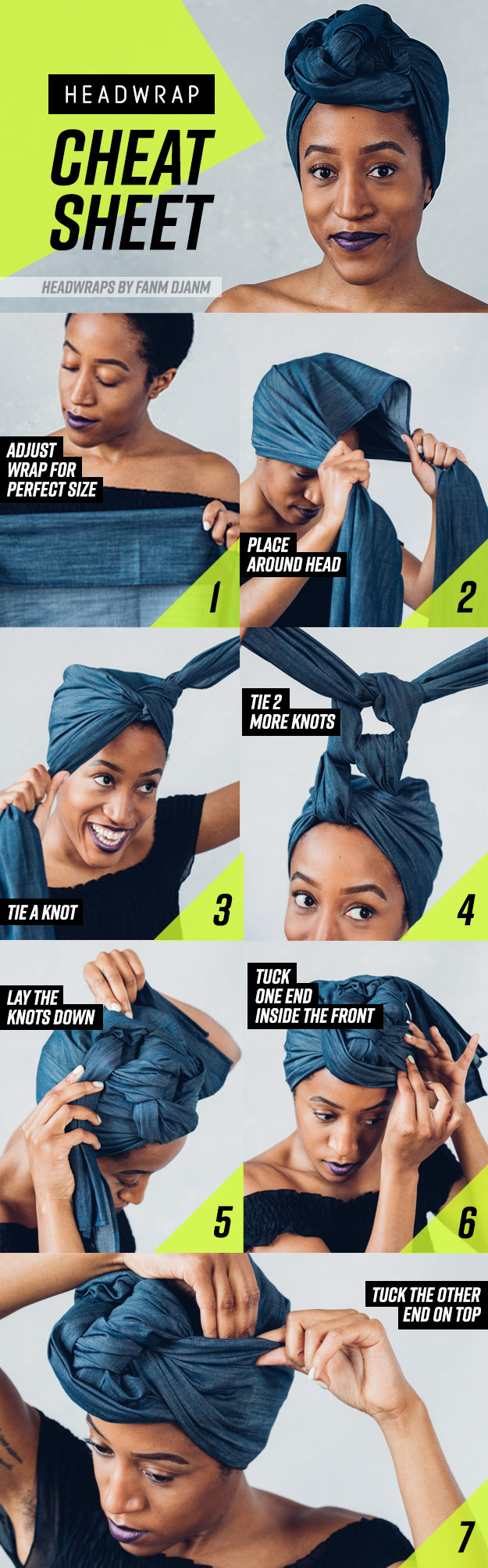 8 Head Wrap Cheat Sheets If You Don\u0027t Know How To Tie Them
