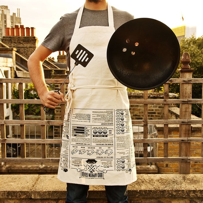 """Promising review: """"Cooking instructions are actually a VERY useful feature. My husband LOVES this and he looks good in it. too! He likes the large size, as well."""" —B A McDonaldGet it from Amazon for $24.95."""