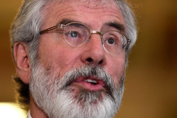 Gerry Adams, the president of Sinn Féin