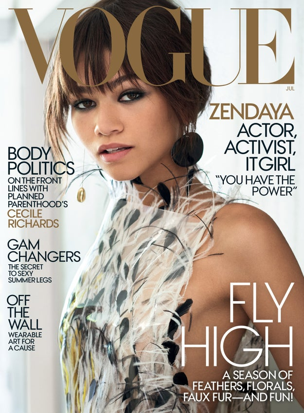 The 20-year-old star is on the cover of Vogue's July issue, and she is serving FACE!