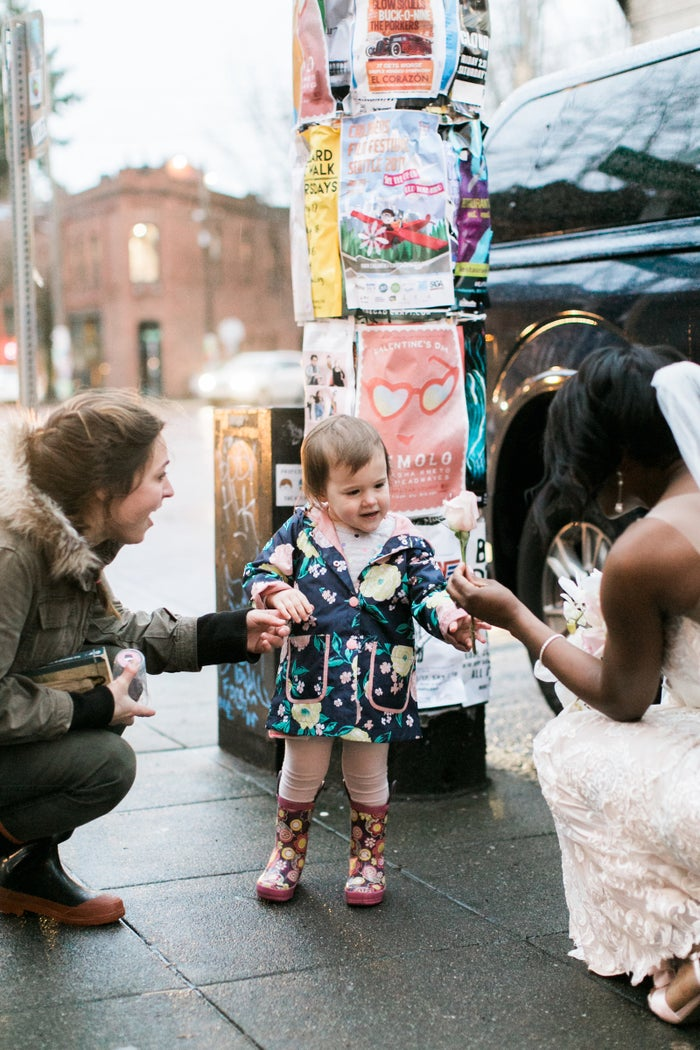 """She was like, 'There's a princess!' and we talked about how she was probably the Princess of Ballard, and then we really just stared at her in awe,"" her mom said.After watching from afar for a bit, Shandace walked over to them, and the girl showed her the book."