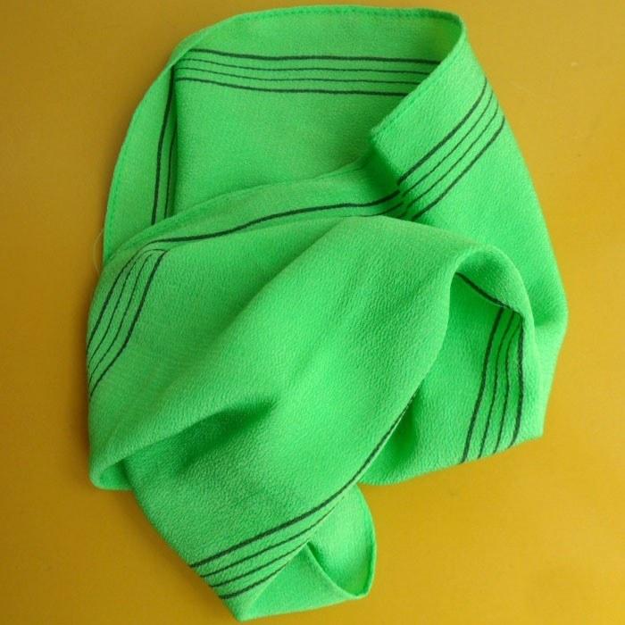 Korean Exfoliating Bath Washcloth 4 pcs by TeChef Home Green