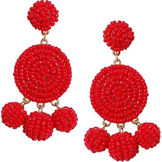 """Promising Review: """"I've been on the prowl for a nice, yet casual pair of red earrings. The hunt is over! These sweet babies are all that, and some!"""" —Amazon CustomerGet them on Amazon for $47.99 (available in 10 colors)."""