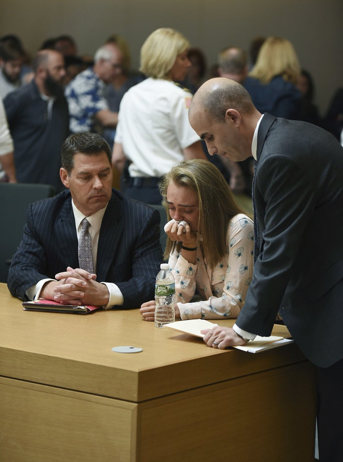 Michelle Carter after being found guilty of involuntary manslaughter.