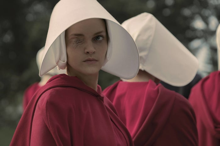 Janine (Madeline Brewer) in Episode 1 of The Handmaid's Tale.