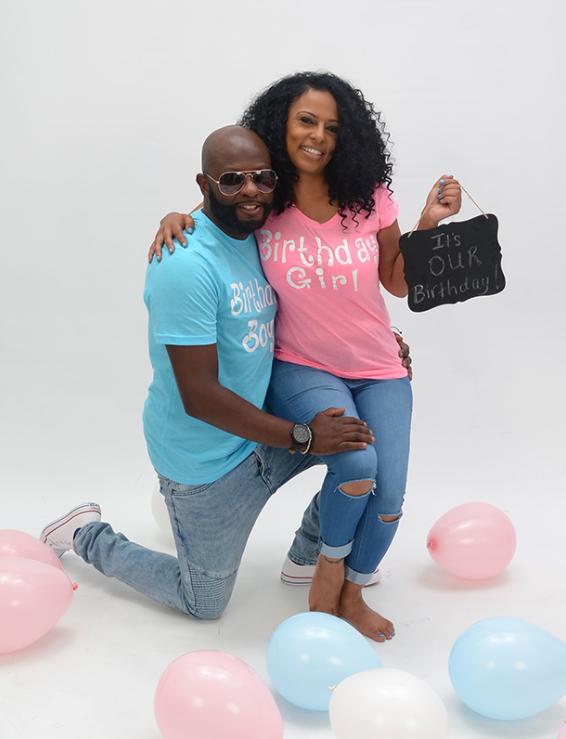 To commemorate their first birthday together as a couple, Etheridge wanted to go all out. She came up with the idea of a photo shoot, complete with matching t-shirts — but her daughter wasn't a fan.