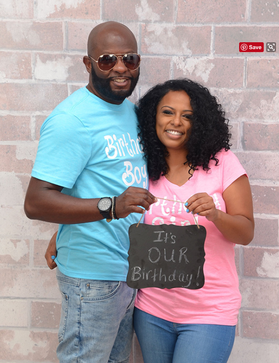 This is Yolanda Etheridge and Kerry Wilson, a South Carolina couple that turned 42 together on Tuesday — and commemorated it with the cutest birthday photo shoot.