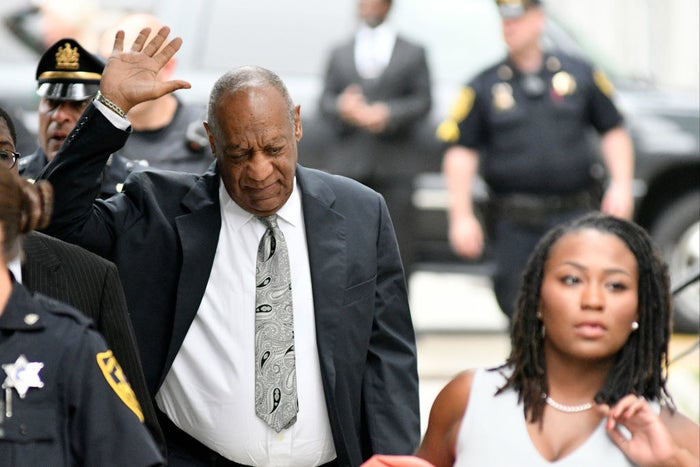 Cosby arriving at court on Saturday.
