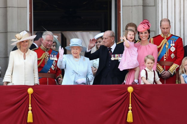 "So today is the Queen's official birthday (her real one is in April), and London celebrated with the annual ""Trooping of the Colours,"" a very British-sounding parade. Naturally, the whole royal family was in attendance."