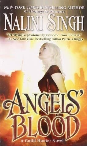 "Do your reading tastes run with an other worldly flavor? Are you looking for a heroine whose job is to keep us mortals safe? We've got the girl for you. Snarky Aussie wants you to know:""She's a hunter, tasked by an archangel to locate another archangel gone rogue, and she is BAD ASS. She stands up to these men and women stronger than her, and despite her mortality, she keeps going. She takes no bullshit and it's awesome. Angels' Blood, the first of the series, was the first romance novel of any kind I read, and what got me hooked.""Published 1/1/2009 (Goodreads)"