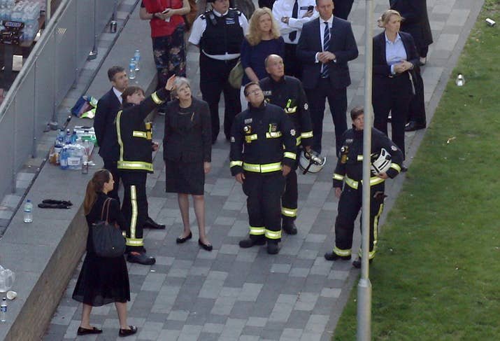 Image result for theresa may grenfell fire