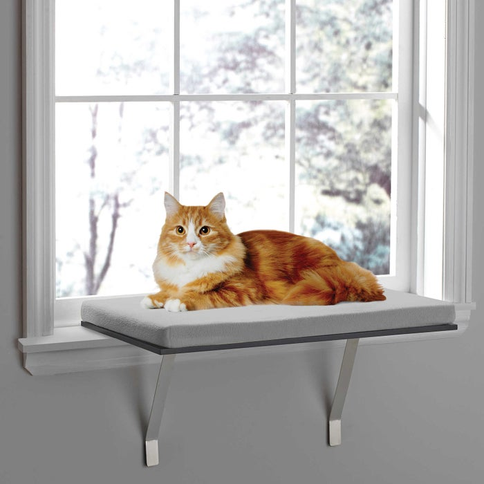 "Promising Review: ""Easy to install, unobtrusive, fits in with all my decor, and (most importantly) my kitty absolutely loves it."" —Jessica in BostonGet it from Amazon for $37.96."
