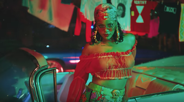 """First the music video starts off with Rihanna in this outfit and it's like """"OH LAWD."""""""